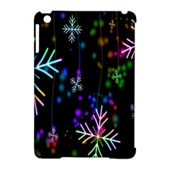 Snowflakes Snow Winter Christmas Apple Ipad Mini Hardshell Case (compatible With Smart Cover)