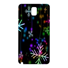 Snowflakes Snow Winter Christmas Samsung Galaxy Note 3 N9005 Hardshell Back Case