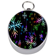 Snowflakes Snow Winter Christmas Silver Compasses