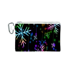 Snowflakes Snow Winter Christmas Canvas Cosmetic Bag (s)