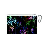 Snowflakes Snow Winter Christmas Canvas Cosmetic Bag (S) Back