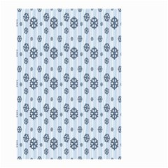 Snowflakes Winter Christmas Card Small Garden Flag (two Sides)