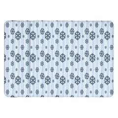 Snowflakes Winter Christmas Card Samsung Galaxy Tab 8 9  P7300 Flip Case