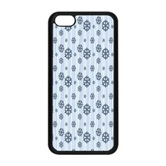 Snowflakes Winter Christmas Card Apple Iphone 5c Seamless Case (black)