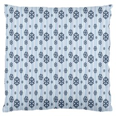 Snowflakes Winter Christmas Card Standard Flano Cushion Case (one Side)
