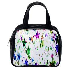 Star Abstract Advent Christmas Classic Handbags (one Side)