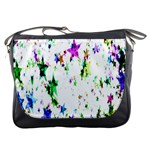Star Abstract Advent Christmas Messenger Bags Front