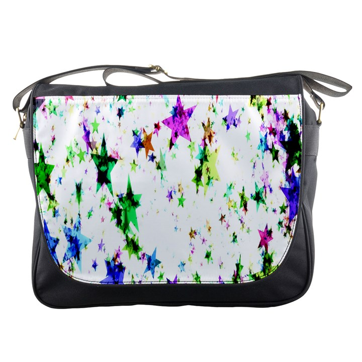 Star Abstract Advent Christmas Messenger Bags