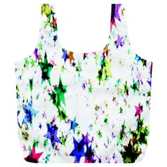 Star Abstract Advent Christmas Full Print Recycle Bags (l)