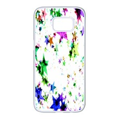 Star Abstract Advent Christmas Samsung Galaxy S7 Edge White Seamless Case
