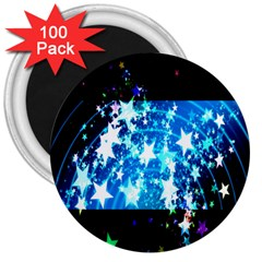 Star Abstract Background Pattern 3  Magnets (100 Pack)