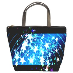 Star Abstract Background Pattern Bucket Bags
