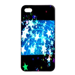 Star Abstract Background Pattern Apple Iphone 4/4s Seamless Case (black)