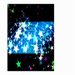 Star Abstract Background Pattern Small Garden Flag (two Sides)