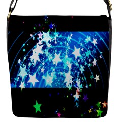 Star Abstract Background Pattern Flap Messenger Bag (s)