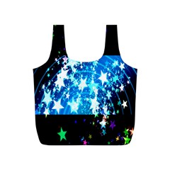 Star Abstract Background Pattern Full Print Recycle Bags (s)