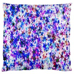 Star Abstract Advent Christmas Large Flano Cushion Case (two Sides)
