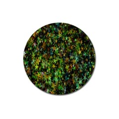 Star Abstract Advent Christmas Magnet 3  (round)
