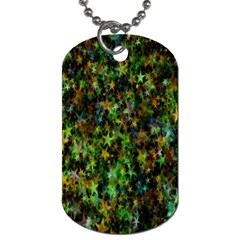Star Abstract Advent Christmas Dog Tag (two Sides)