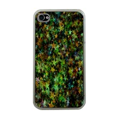 Star Abstract Advent Christmas Apple Iphone 4 Case (clear)