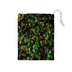 Star Abstract Advent Christmas Drawstring Pouches (medium)