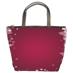 Star Background Christmas Red Bucket Bags