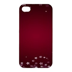 Star Background Christmas Red Apple Iphone 4/4s Hardshell Case