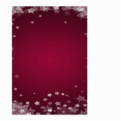 Star Background Christmas Red Small Garden Flag (two Sides)