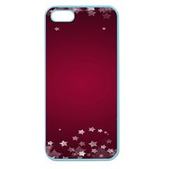 Star Background Christmas Red Apple Seamless Iphone 5 Case (color)