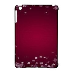 Star Background Christmas Red Apple Ipad Mini Hardshell Case (compatible With Smart Cover)