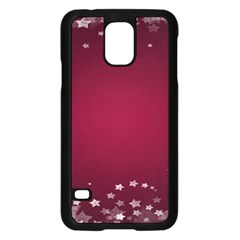 Star Background Christmas Red Samsung Galaxy S5 Case (black)