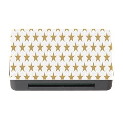 Star Background Gold White Memory Card Reader With Cf