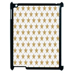 Star Background Gold White Apple Ipad 2 Case (black)