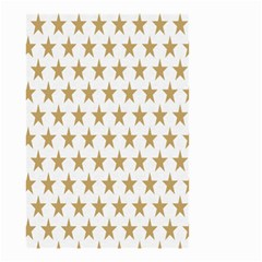 Star Background Gold White Small Garden Flag (two Sides)
