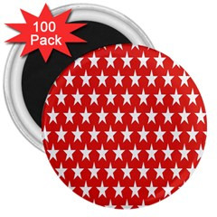 Star Christmas Advent Structure 3  Magnets (100 Pack)