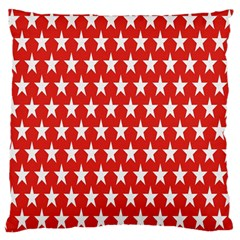 Star Christmas Advent Structure Large Flano Cushion Case (one Side)