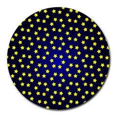 Star Christmas Red Yellow Round Mousepads