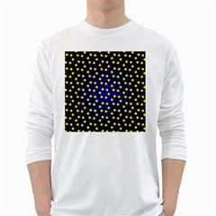 Star Christmas Red Yellow White Long Sleeve T Shirts