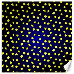 Star Christmas Red Yellow Canvas 20  X 20