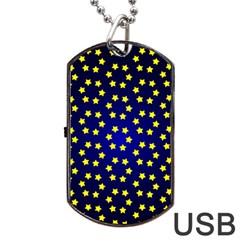Star Christmas Red Yellow Dog Tag Usb Flash (two Sides)