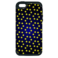 Star Christmas Red Yellow Apple Iphone 5 Hardshell Case (pc+silicone)