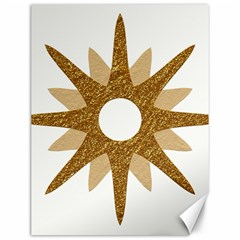Star Golden Glittering Yellow Rays Canvas 12  X 16