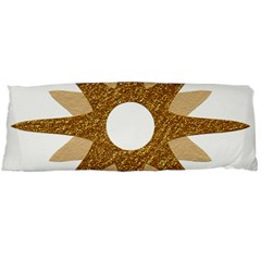 Star Golden Glittering Yellow Rays Body Pillow Case Dakimakura (two Sides)