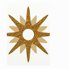 Star Golden Glittering Yellow Rays Small Garden Flag (two Sides)