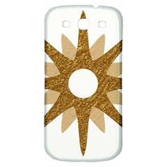 Star Golden Glittering Yellow Rays Samsung Galaxy S3 S Iii Classic Hardshell Back Case