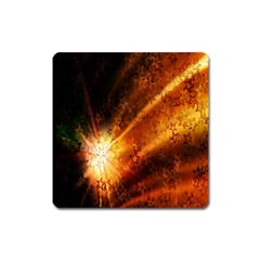 Star Sky Graphic Night Background Square Magnet