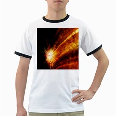 Star Sky Graphic Night Background Ringer T Shirts