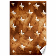 Stars Brown Background Shiny Canvas 12  X 18