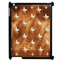 Stars Brown Background Shiny Apple Ipad 2 Case (black)