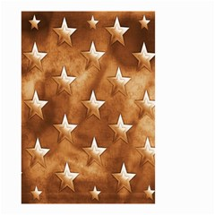 Stars Brown Background Shiny Small Garden Flag (two Sides)